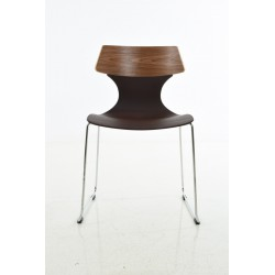 PP chair, with wood back with wood leg
