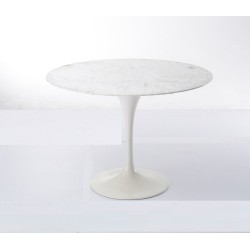 Round marble dining table, with Aluminum base