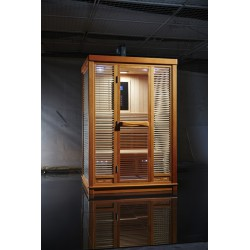 Infrared sauna room, with Canadian hemlock wood
