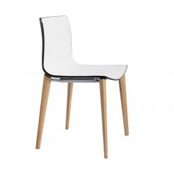 Dining chair, abs seat and ash wood frame