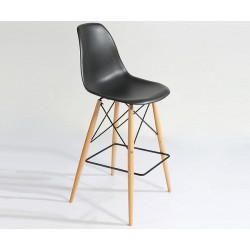 Barstool, PP seat with beech wood frame