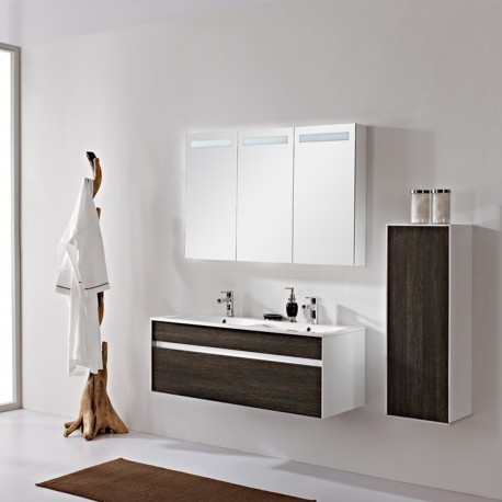 Glossy white painting cabinet with MFC door