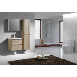 Modern glossy white lacquer bathroom cabinet