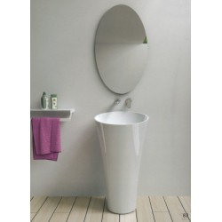 White freestanding basin
