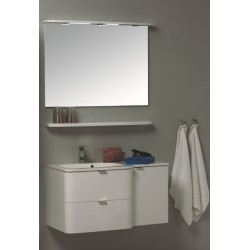 Glossy white painting vanity unit