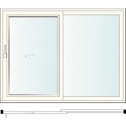 II C LIFTING SLIDING WINDOW + FIXED WINDOW