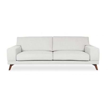 3 Seaters Sofa, Fabric Upholstery, Includes loose seat, loose back and loose side cushions, solid wooden legs (KD)