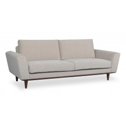 3 Seaters Sofa, Fabric or Leather Upholstery, Includes loose seat, loose back and loose side cushions, solid wooden legs (KD)